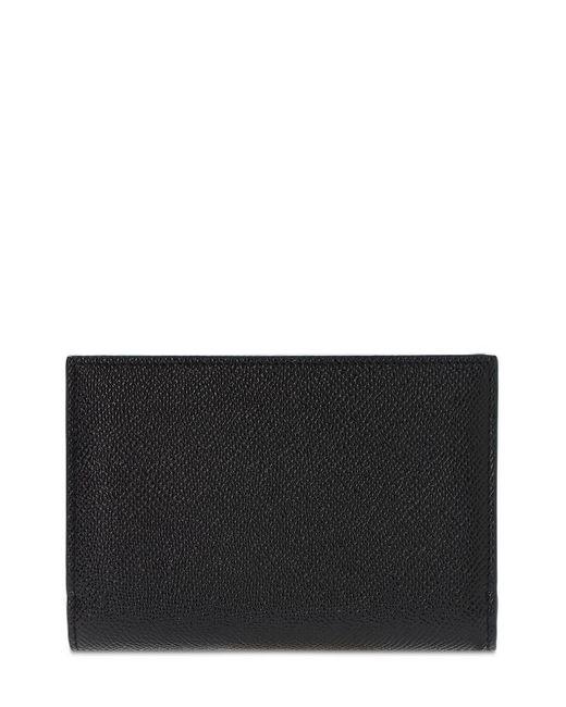 "Cartera ""dauphine"" De Piel Con Logo Dolce & Gabbana de color Black"