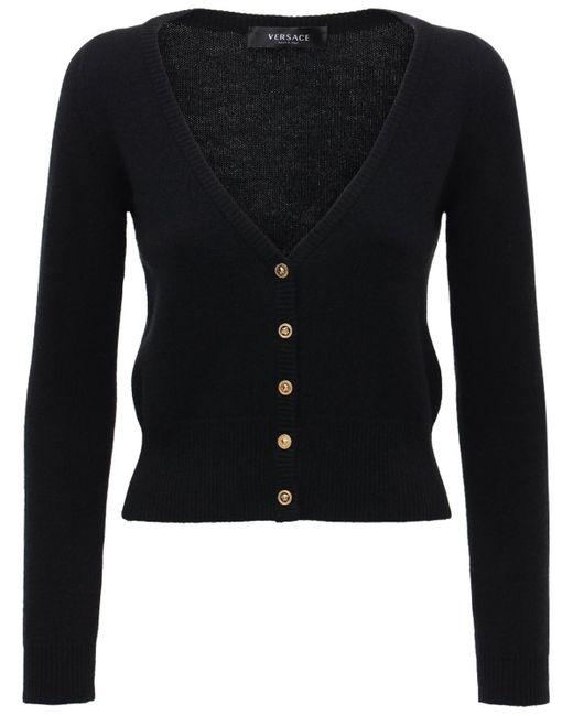 Versace カシミアカーディガン Black