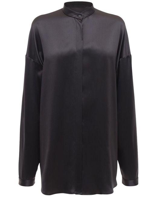 Haider Ackermann オーバーサイズシルクサテンシャツ Gray