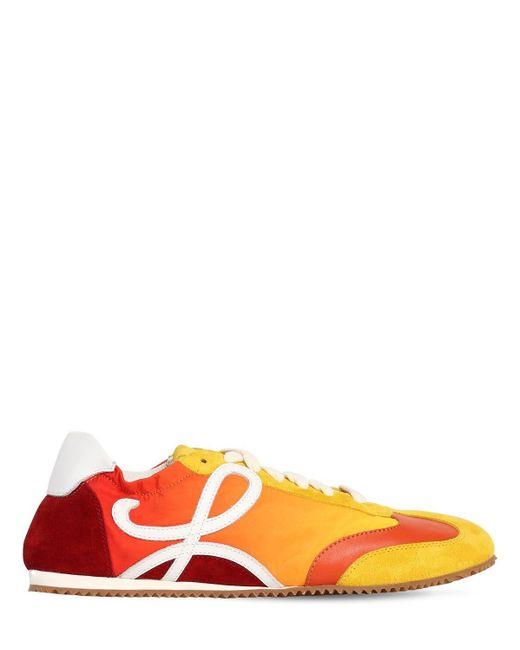 Loewe Ballet ナイロン&スエードスニーカー 100mm Multicolor
