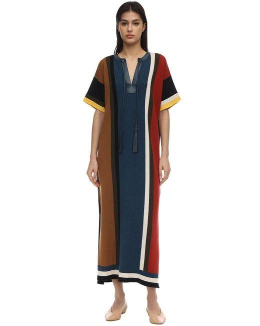 Ferragamo ウール&コットンドレス Multicolor