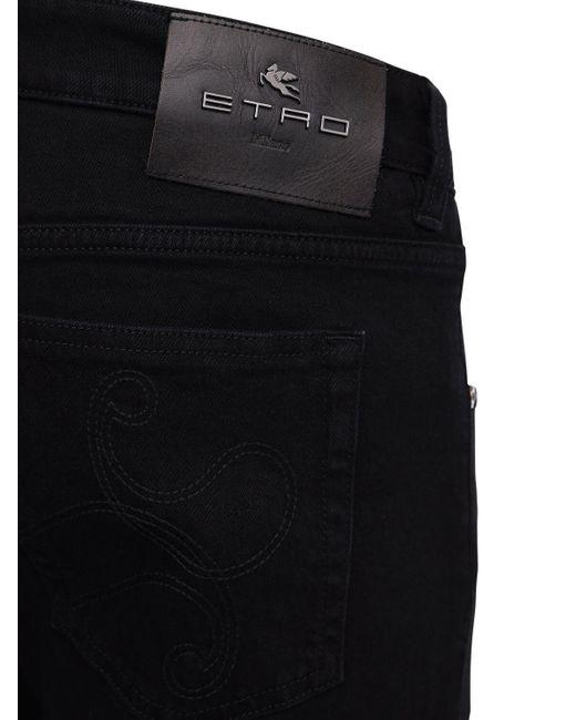 メンズ Etro コットンデニムジーンズ 17cm Black