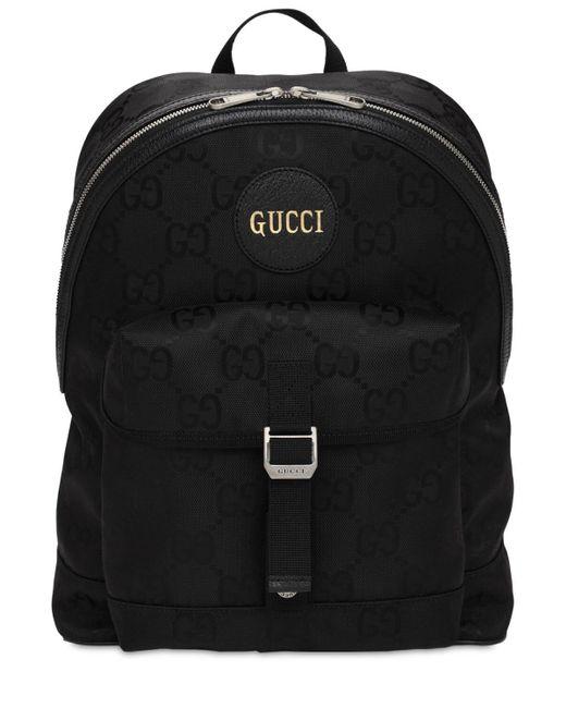 メンズ Gucci Off The Grid エコナイロンバックパック Black