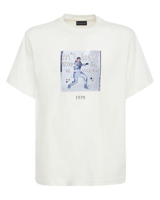 メンズ Throwback. 007 Moon コットンtシャツ White