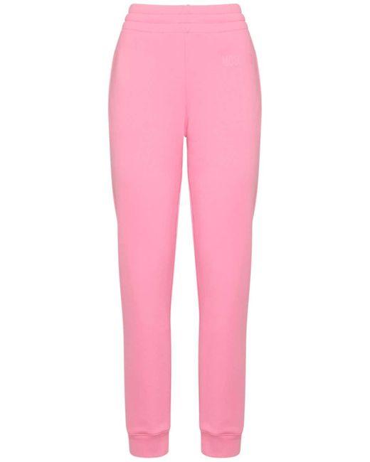 Moschino Couture Milano コットンスウェットパンツ Pink