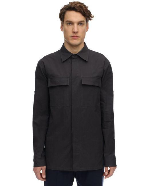 Куртка Из Хлопкового Канвас Bottega Veneta для него, цвет: Blue