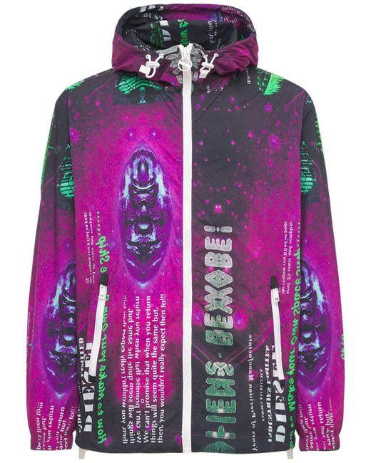 メンズ DIESEL ライトナイロンジップジャケット Multicolor