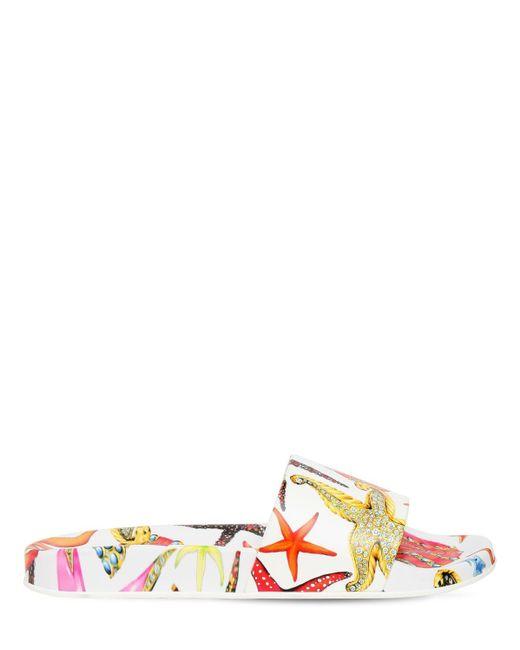 Versace ラバーサンダル 10mm Multicolor