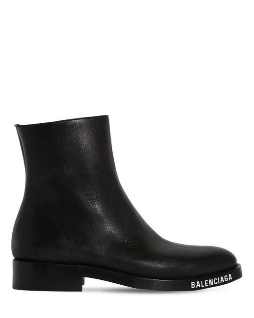 Ботинки Из Искусственной Кожи Balenciaga для него, цвет: Black