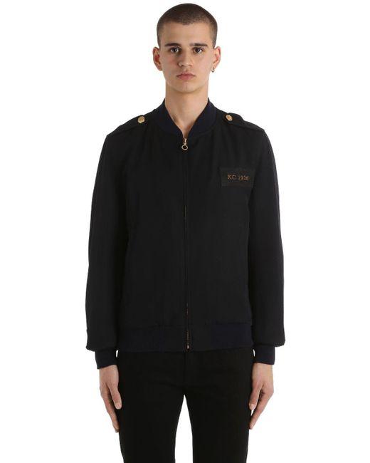 メンズ Kent & Curwen Military ウールボンバージャケット Blue