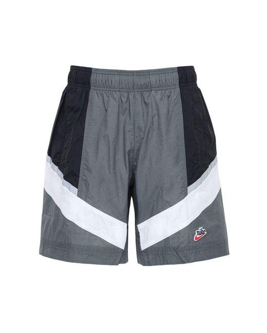 メンズ Nike Windrunner ウーヴンナイロンハーフパンツ Gray