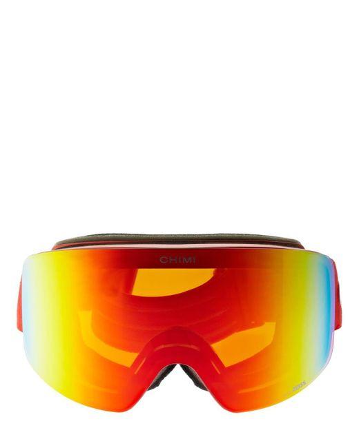 Chimi 01 Red スキーゴーグル