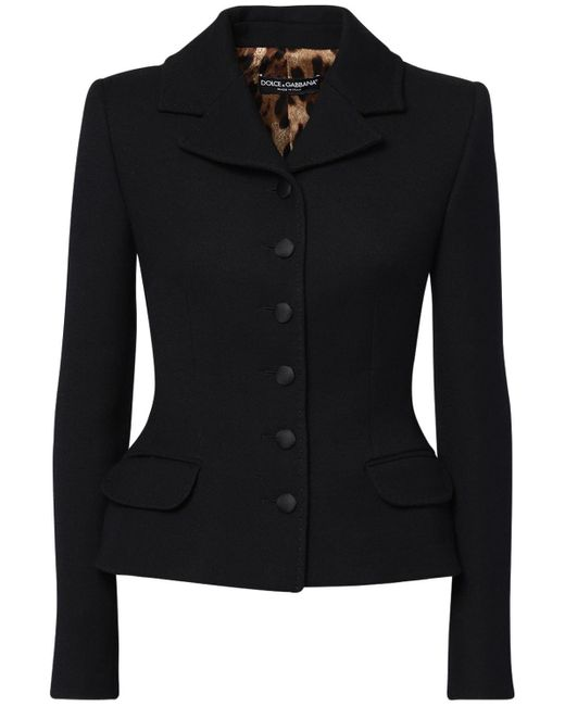 Dolce & Gabbana ウールクレープジャケット Black