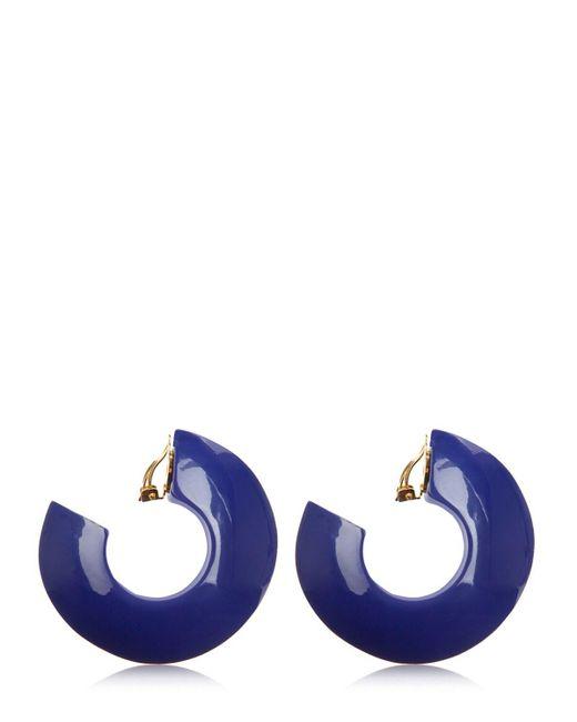 Boucles D'oreilles Émaillées À Clip Marni en coloris Blue