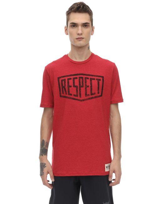メンズ Under Armour Project Rockグラフィックコットンtシャツ Red