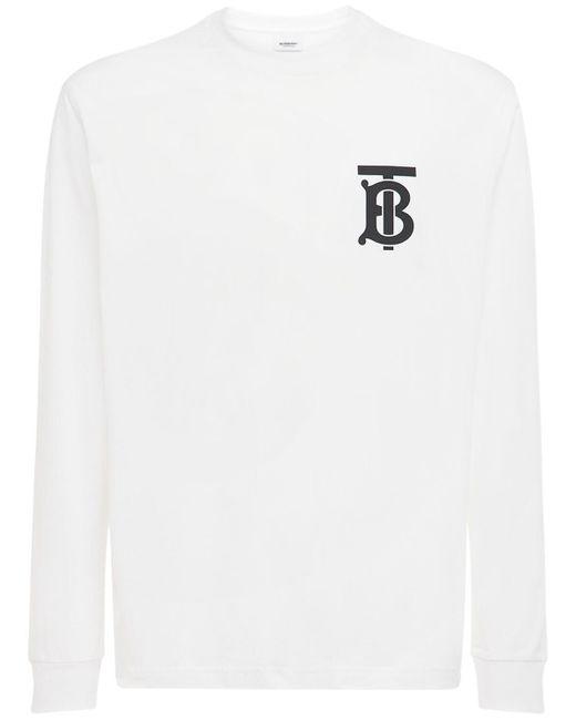 メンズ Burberry オーバーサイズコットンジャージーtシャツ White