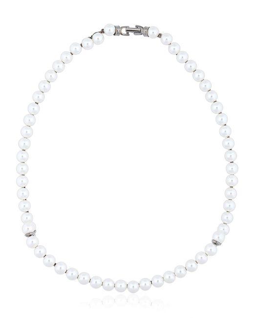 EK Thongprasert | White Origami Metal Imitation Pearls Necklace | Lyst