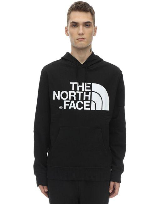 メンズ The North Face Standard コットンスウェットフーディ Black