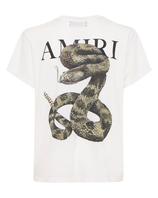 メンズ Amiri Snake ジャージーtシャツ White