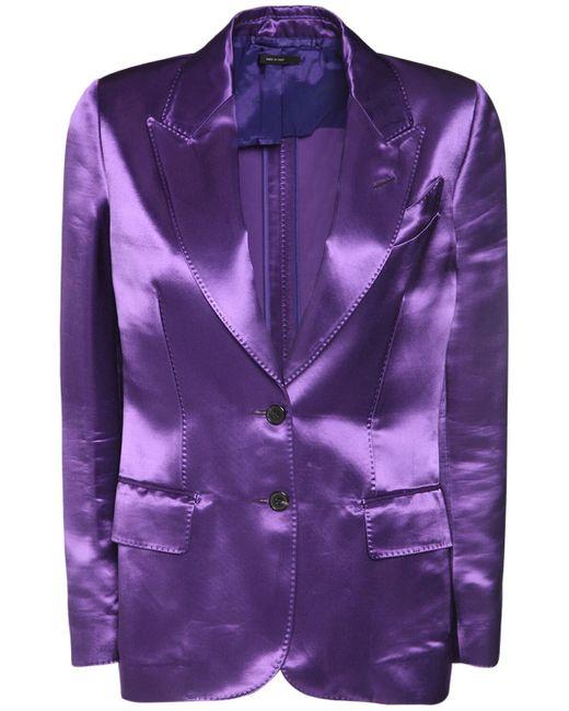 Tom Ford Heavy ビスコースサテンジャケット Purple