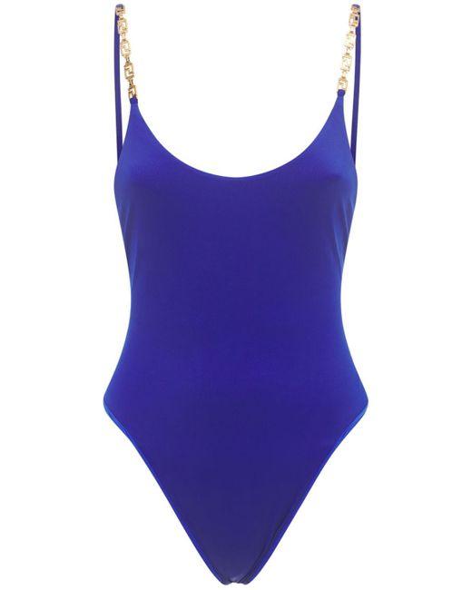 Купальник С Цепочками Versace, цвет: Blue