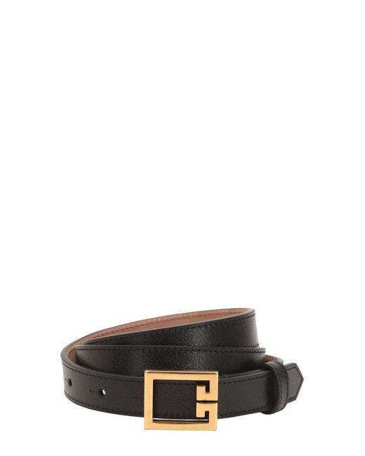 Ремень Из Зернистой Кожи 20mm Givenchy, цвет: Black