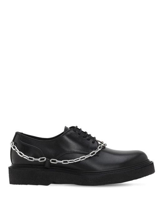 Кожаные Туфли С Цепочкой Neil Barrett для него, цвет: Black