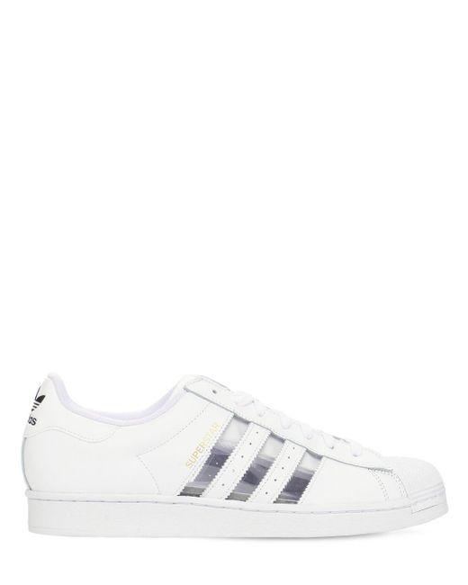 """Кожаные Кроссовки """"superstar"""" Adidas Originals для него, цвет: White"""