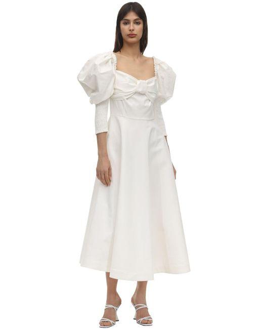 Anouki Bardot ポプリンドレス White