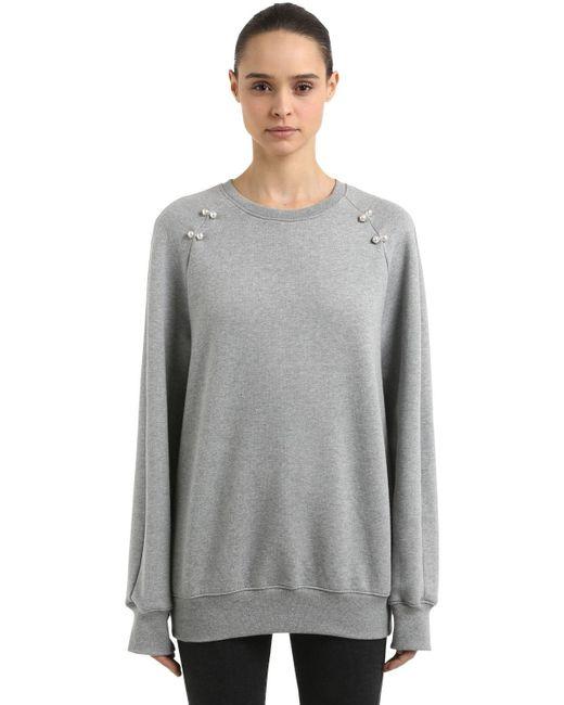 Coliac Deneb オーバーサイズスウェットシャツ Gray