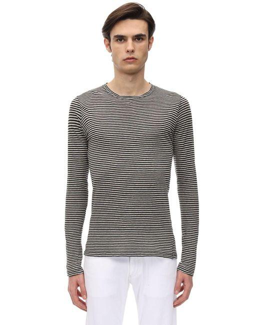 メンズ Isabel Marant コットン&リネンtシャツ Gray