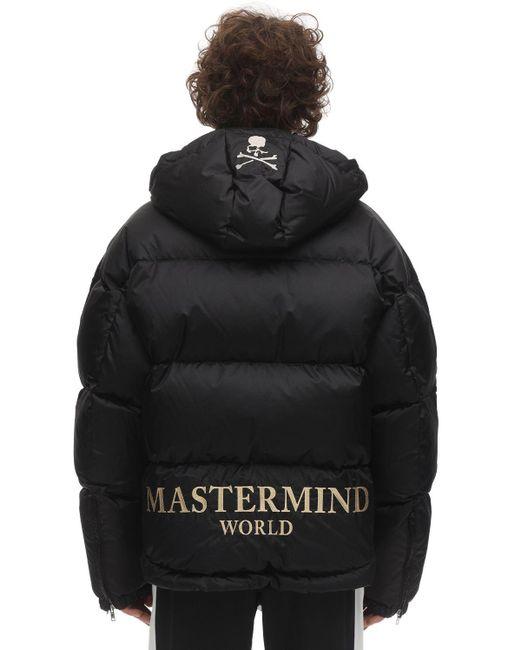 メンズ MASTERMIND WORLD ナイロンダウンジャケット Black