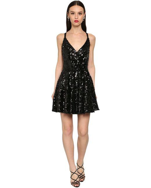 Dolce & Gabbana スパンコールミニドレス Black