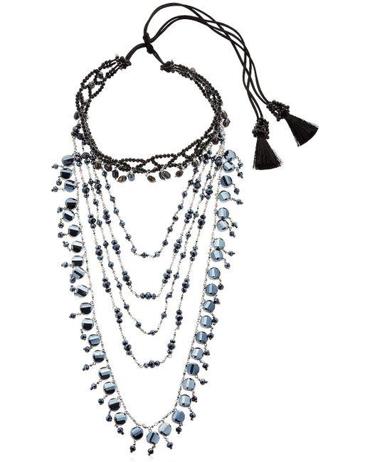 Night Market - Multicolor Multi Chain Decò Choker Necklace - Lyst