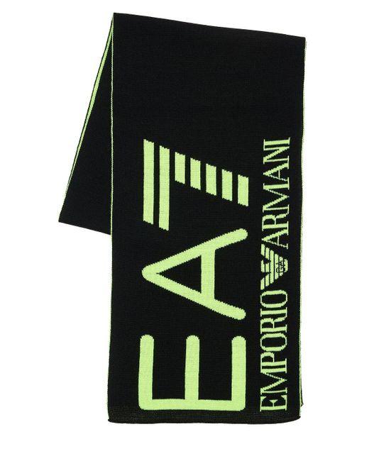 """Bufanda """"train Visibility"""" De Acrílico EA7 de color Black"""
