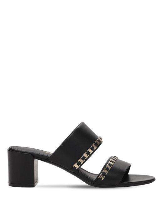 Кожаные Туфли-мюли Trabia 55mm Ferragamo, цвет: Black