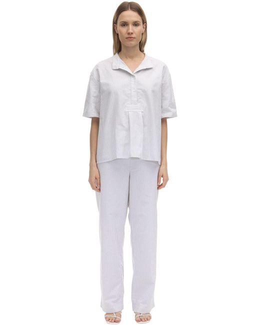 The Sleep Shirt フランネルコットンパジャマ White