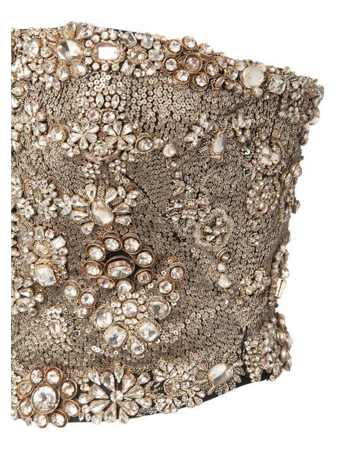 Топ-бюстье Из Шелка Alexander McQueen, цвет: Metallic