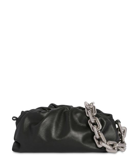 Кожаная Сумка Metal Chain Bottega Veneta, цвет: Black