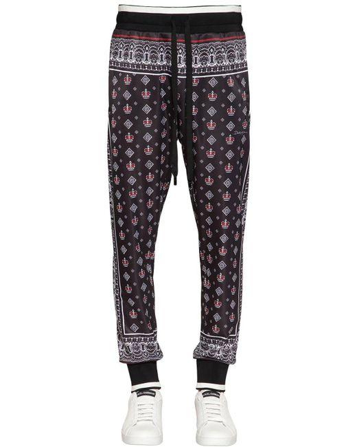 メンズ Dolce & Gabbana トリアセテートトラックパンツ Black