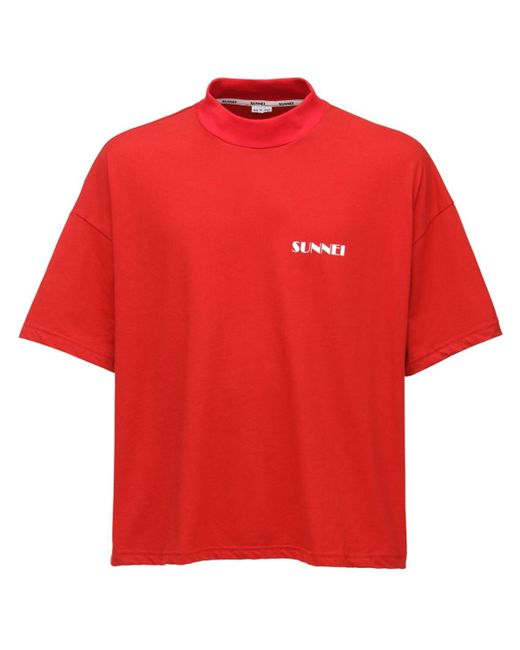 メンズ Sunnei コットンtシャツ Red