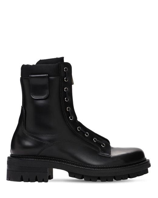 Ботинки Из Кожи И Нейлона DSquared² для него, цвет: Black