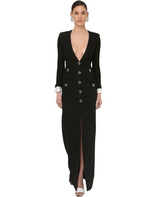 Alessandra Rich ウールツイードドレス Black