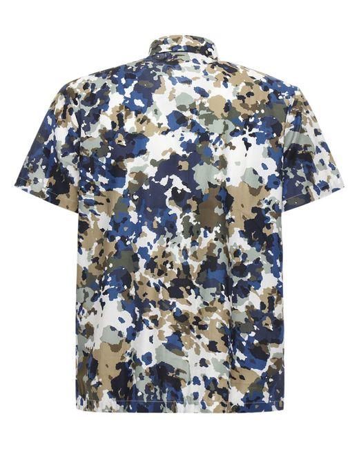 メンズ A.P.C. プリントコットンtシャツ Blue
