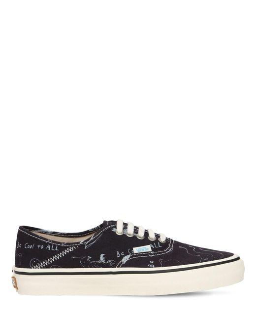 """Vans Black Sneakers """"chris Johanson Ua Authentic 44dx"""""""