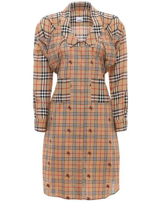 Burberry コットンポプリンシャツドレス Multicolor
