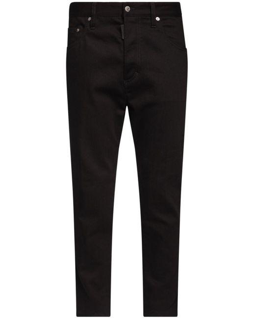 メンズ DSquared² Twist ジップコットンデニムジーンズ 15cm Black