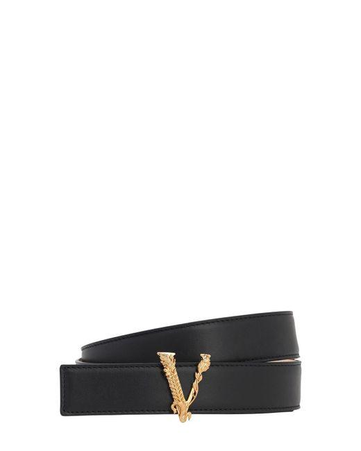 Кожаный Ремень Virtus 30мм Versace, цвет: Black