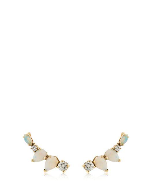 Sarah Noor - Metallic Opal Diamond Cluster Earrings - Lyst