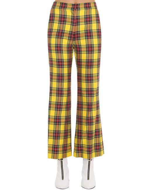 Pushbutton チェックフレアパンツ Multicolor